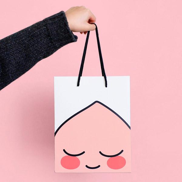 카카오프렌즈/세로 쇼핑백